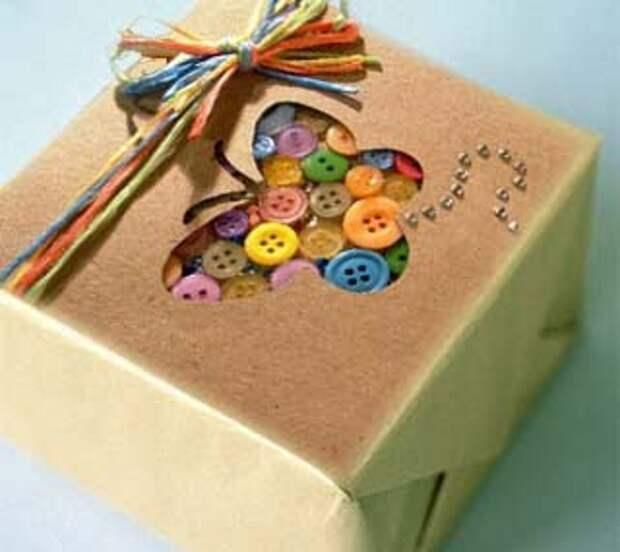 Пуговицы в оформлении подарочной упаковки
