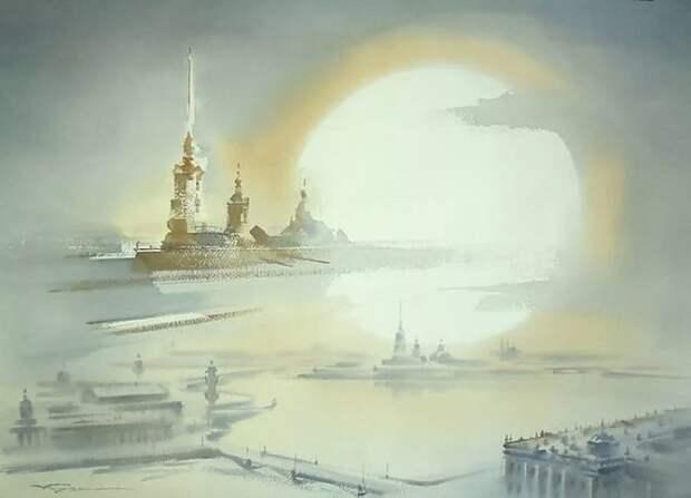 художник Константин Кузема акварель картины - 21