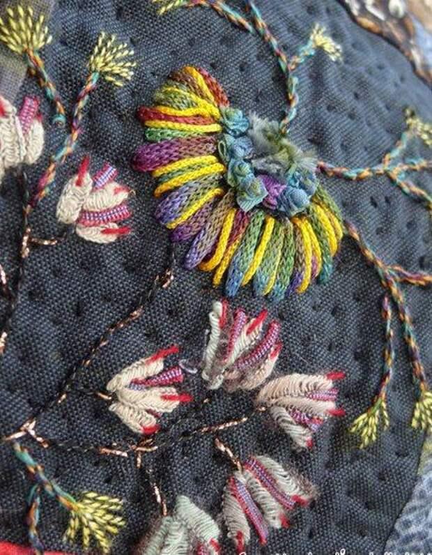 Вышивка цветов: изумительные идеи 1