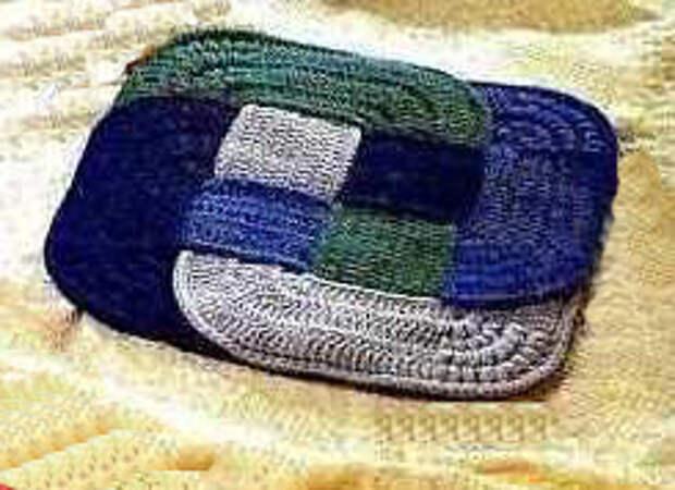 цветной вязаный коврик3