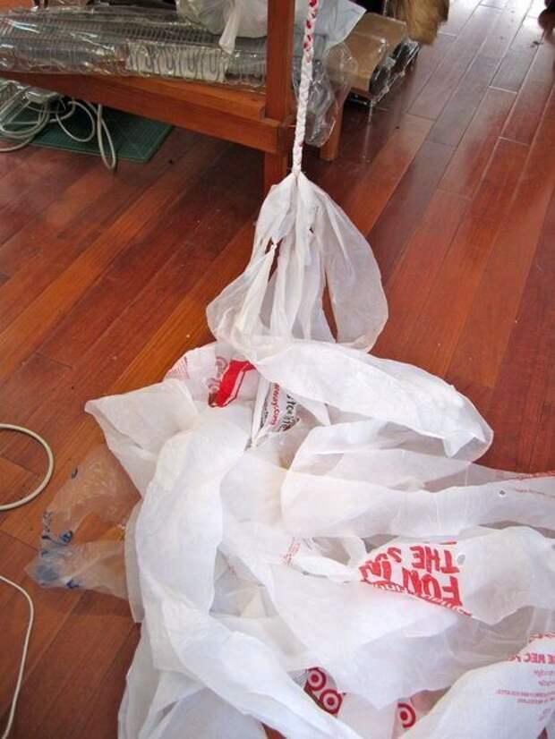 Плетем очаровательные корзинки из полиэтиленовых пакетов