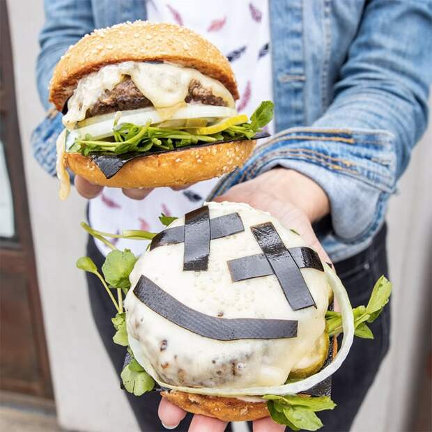 Бургер с маршмеллоу имеет нестандартный, но приятный вкус. / Фото: foodbeast.com