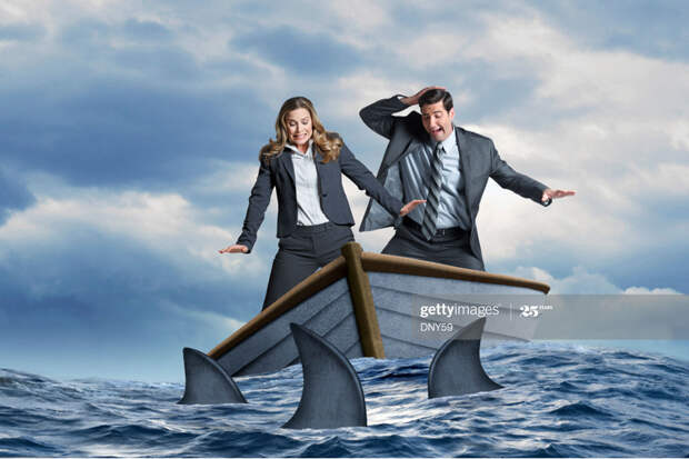 Sharks in Dinghy
