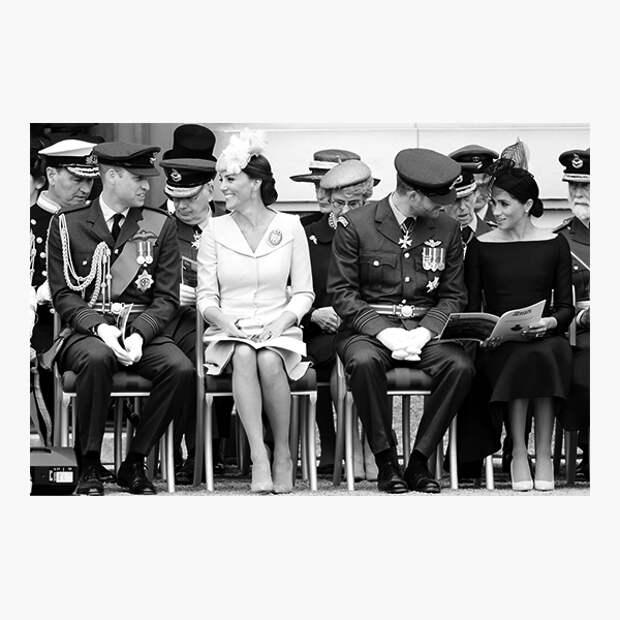 Герцоги Кембриджские Уильям и Кэтрин, герцоги Сассекские Гарри и Меган
