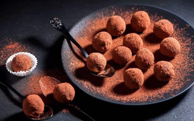 Домашние шоколадно-мандариновые трюфели