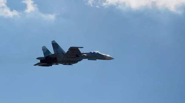 Су-27 поднимался на перехват самолётов США над Чёрным морем
