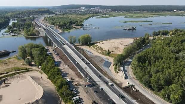 ВСамарской области на полтора года раньше срока завершили строительство моста через реку Сок