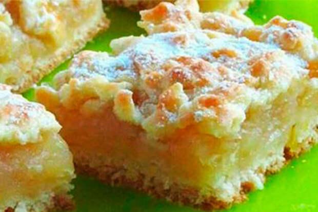 Пирог с нежной лимонно-яблочной начинкой