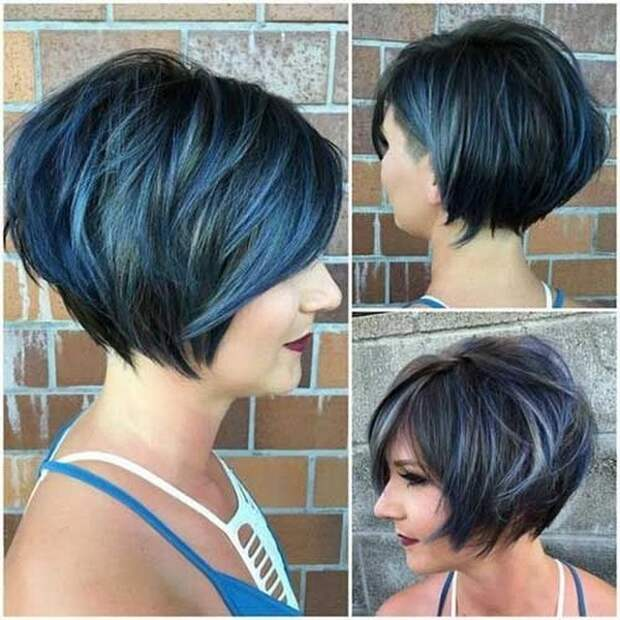 Удачные и стильные причёски для круглого типа лица