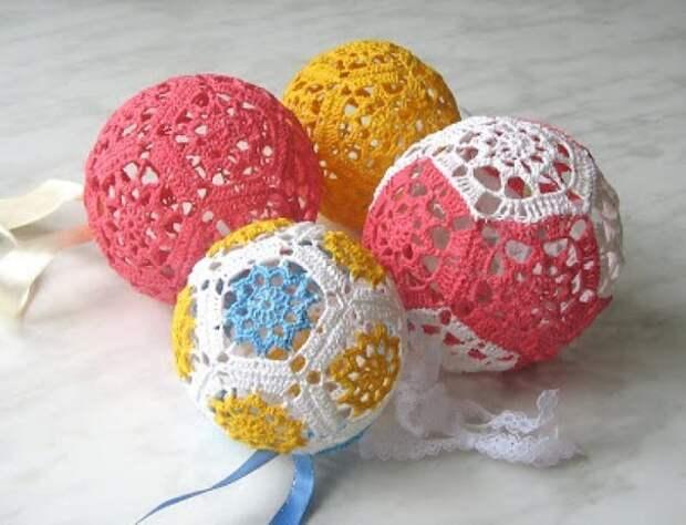 Вязаный шар. Мастер-класс