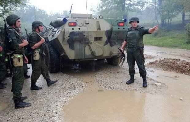 Российские военные провели учения вАбхазии