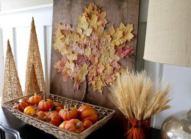 Идеи декорирования. Картины из листьев: мастер-классы и интересные идеи
