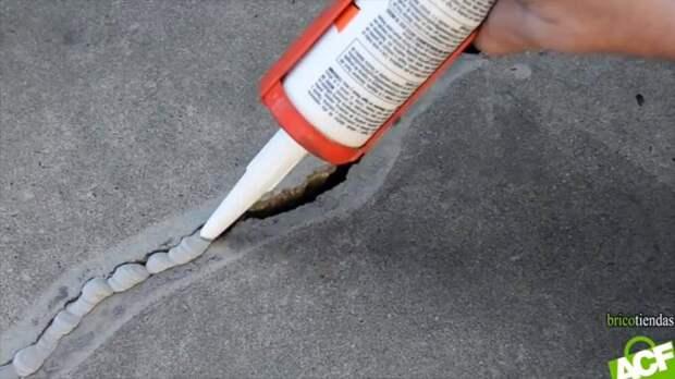 Как заделать трещину бетонной в стене или полу