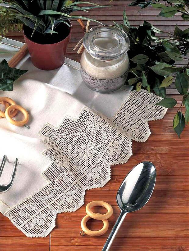 Филейное вязание или вязаное кружево: учимся вязать простые узоры