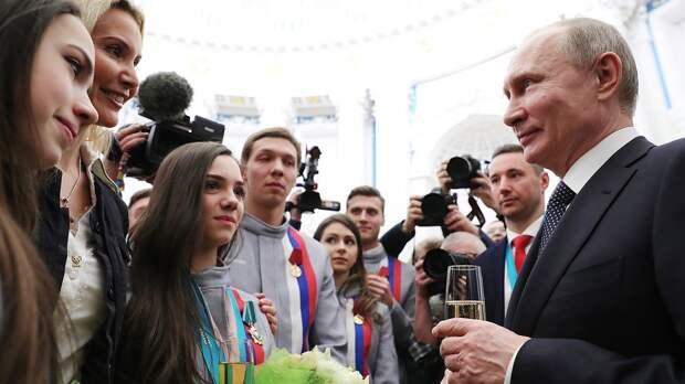 Как Тутберидзе, Загитова, Плющенко и Бузова поздравили Путина