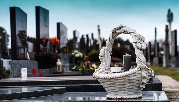 Жители Подмосковья могут посещать кладбища только в масках и перчатках