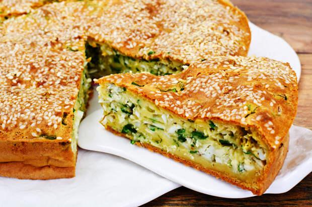 Как приготовить пирог с зеленым луком фото