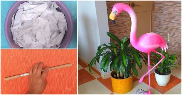 Секрет рождения розового фламинго: изящный декор без особых затрат