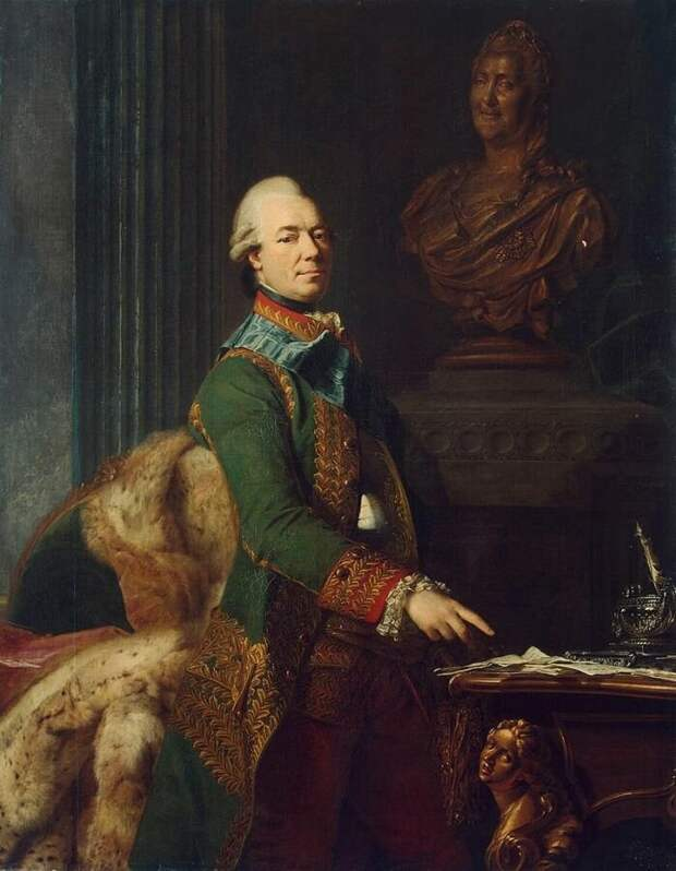 Захарий Григорьевич Чернышёв. Портрет работы шведского художника Александра Рослина.