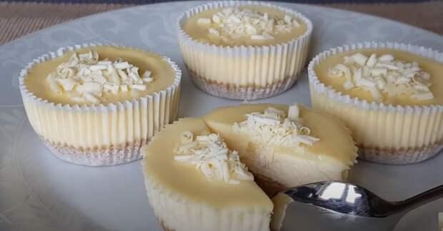 Творожный десерт! Пошаговый рецепт чизкейков с белой, шоколадной глазурью