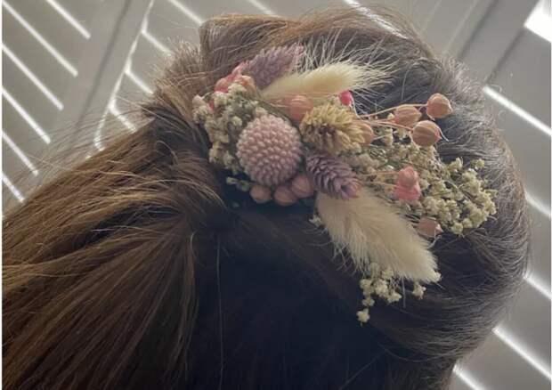 цветы на свадьбу или выпускной своими руками гребень