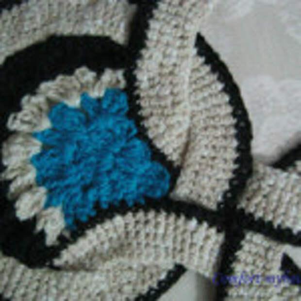 Оригинальный вязаный коврик (10)