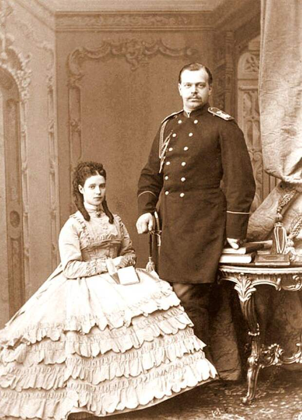 Мария Федоровна и цесаревич Александр Александрович