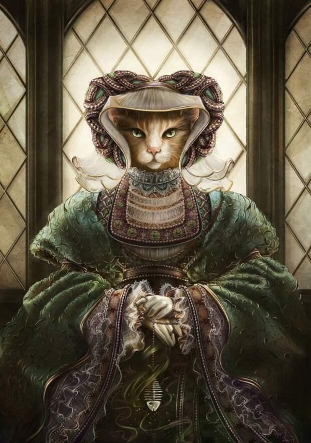 Представителей кошачьих в образе исторических личностей