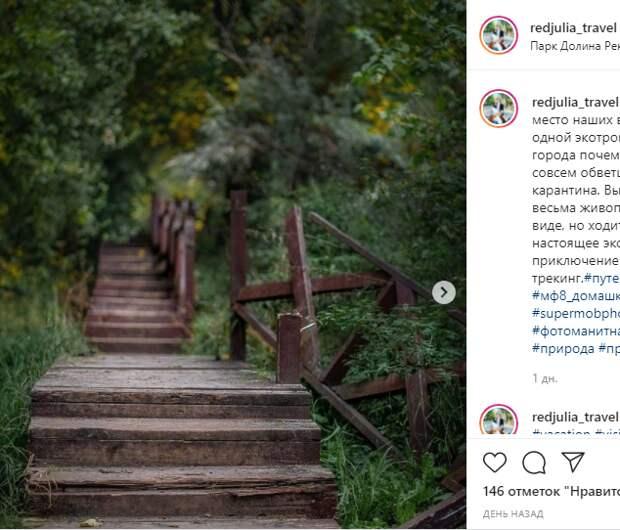 Фото дня: заброшенная деревянная лестница в парке Долины реки Сходни