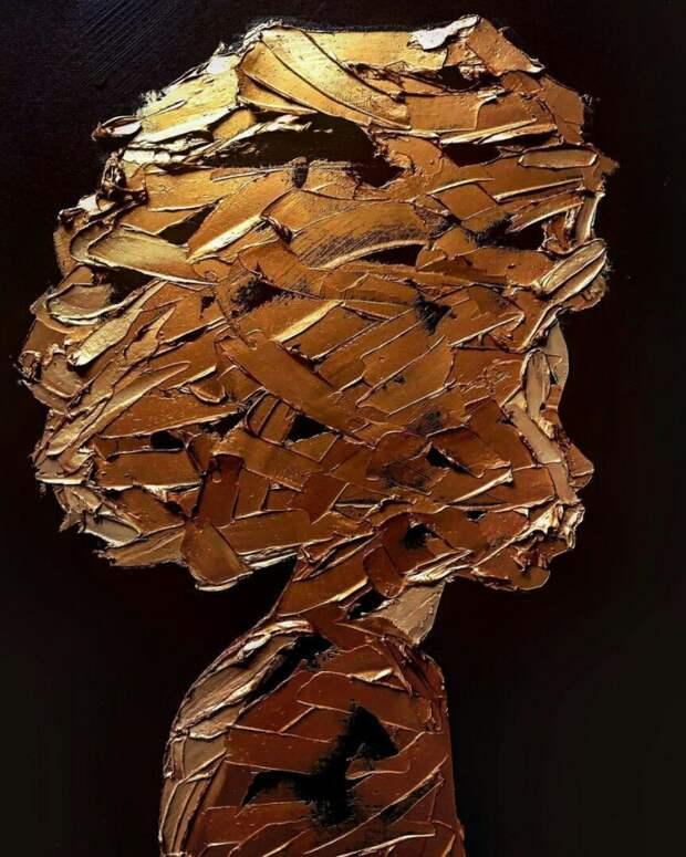 Портрет мастихином