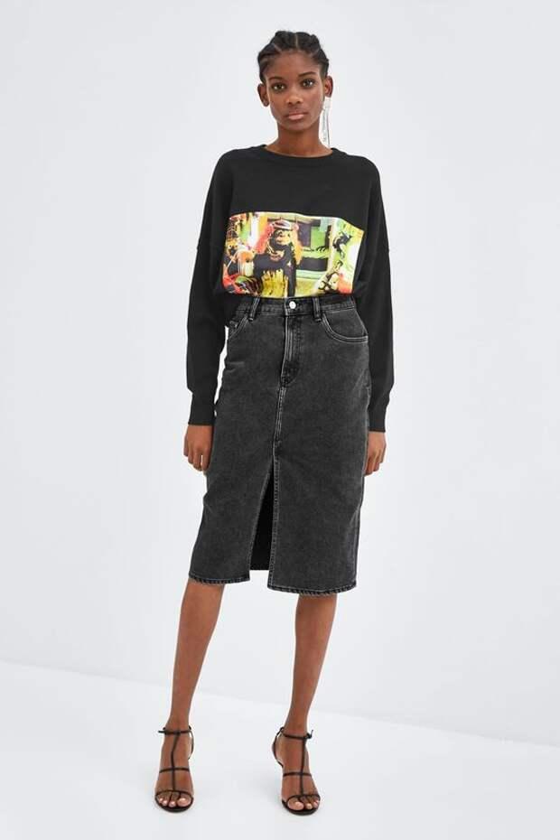 Юбки из джинсов