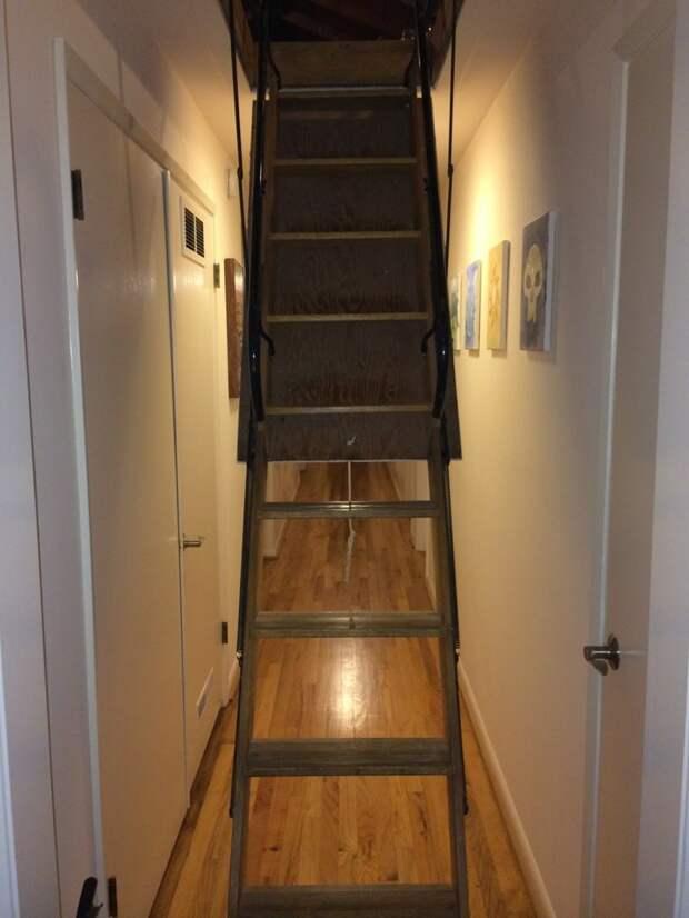 Лестница на чердак дом, загадка, комната, находка, странность, фотография, чердак