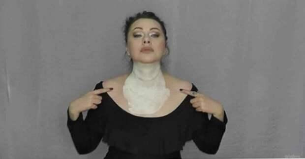 Маска для шеи и декольте с мгновенным эффектом. Видео прилагается
