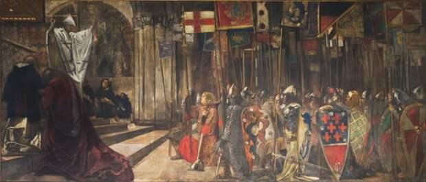 Эдвин Остин Эбби - американский художник, влюбленный в английскую культуру