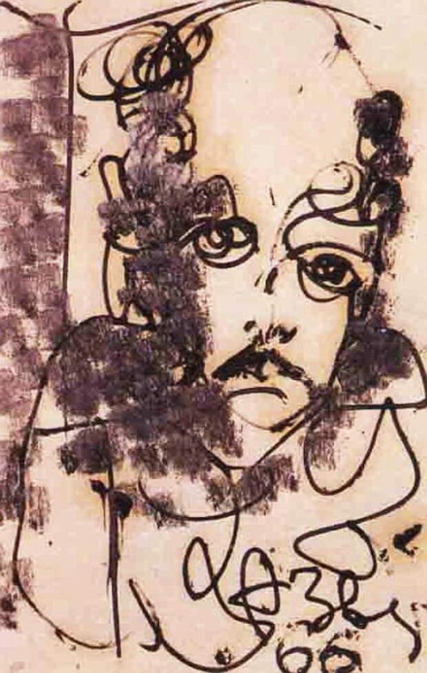 1966 Портрет Ю. Рябатнова (381x600, 83Kb)