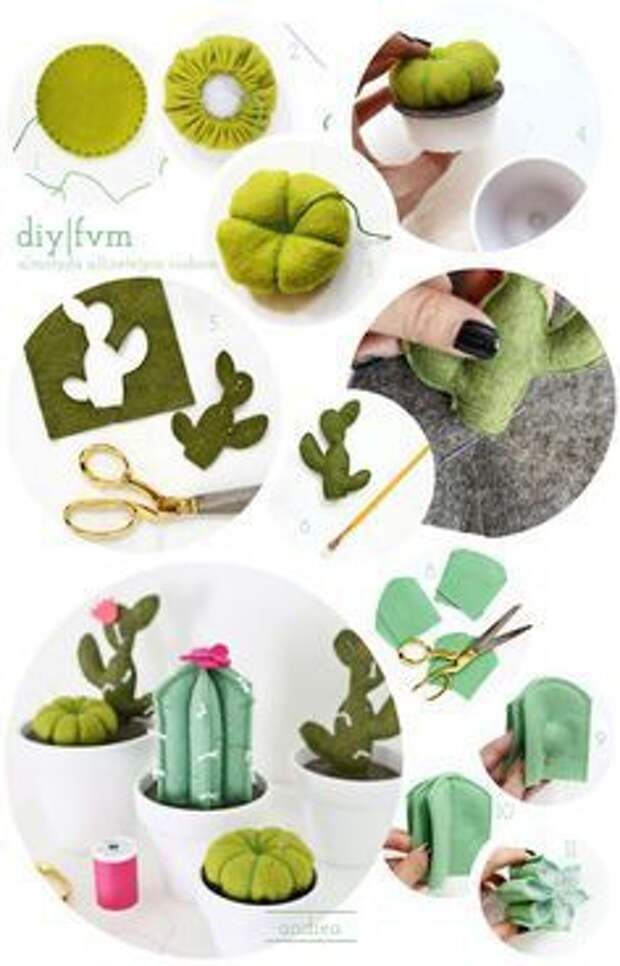шить кактус