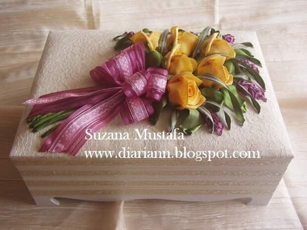 Роскошные объемные розы из атласных лент. Подробный мастер-класс.
