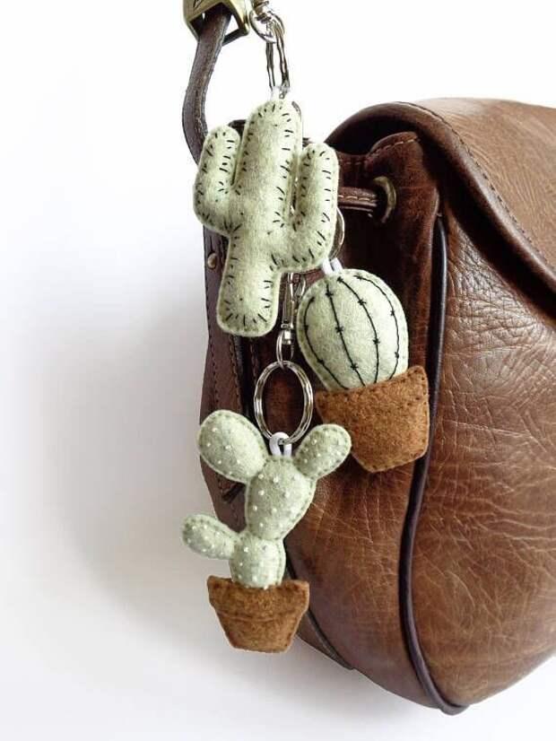 Кактусята на сумку (подборка)