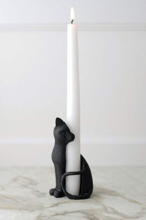 Подсвечник-кошка