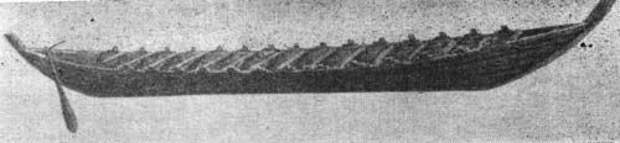 Модель судна из Нидама.