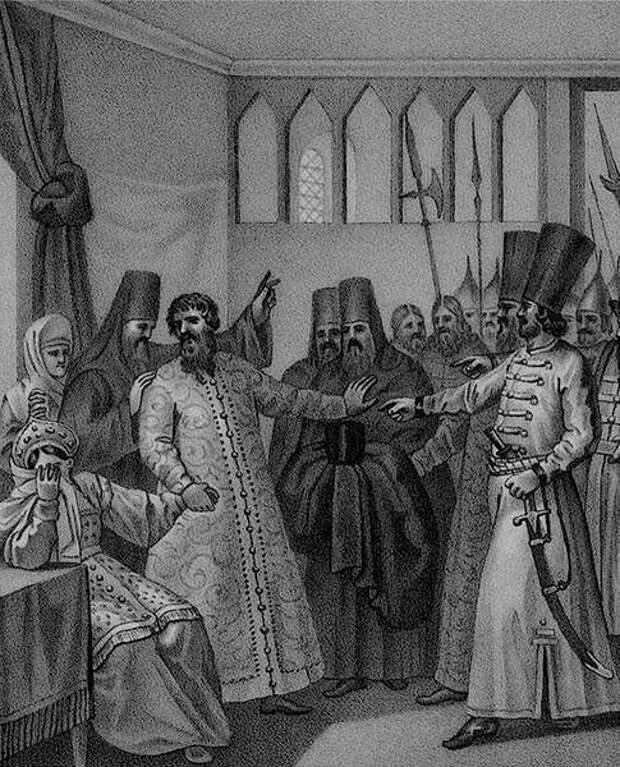 Пострижение Шуйского в монахи