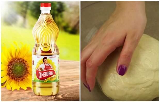 Добавьте постного масла на рабочую поверхность, а также смажьте им руки