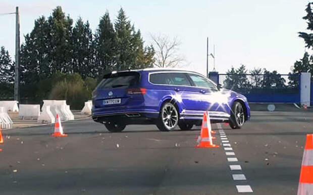 VW Passat: 4 км/ч не хватило, чтобы пройти «лосиный» тест