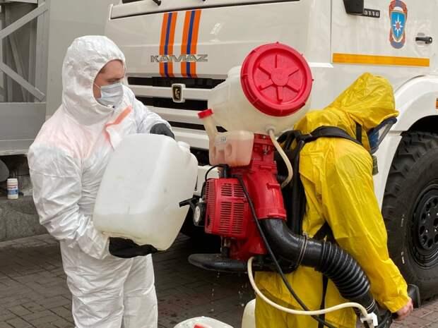 Специалисты Центра «Лидер» провели дезинфекцию Киевского вокзала