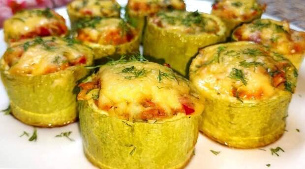 Вкусно: фаршированные кабачки, запеченные в духовке. Простой и полезный рецепт