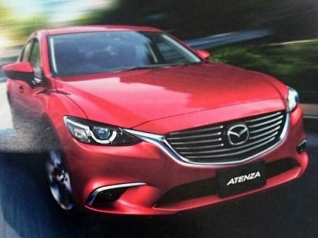 Обновленная Mazda6 показала свои экстерьер и салон
