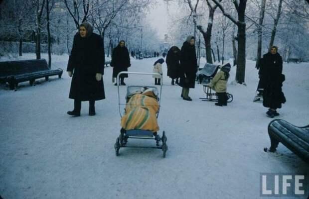 Московские дети зимой 1960-го года