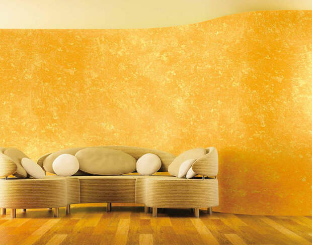 Яркая декоративная штукатурка для внутренней отделки стен