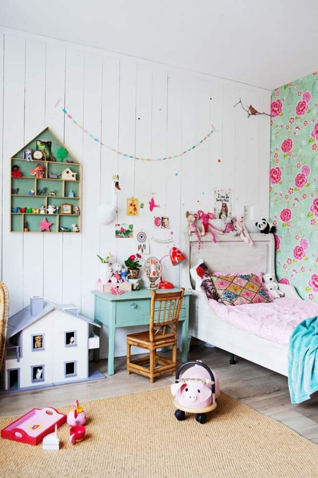 casa con un interior decorado en tonos verdes chicanddeco