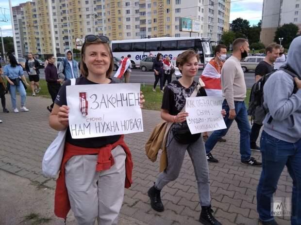 Мирные протестующие верят в то, что у них всё иначе, чем было на Украине